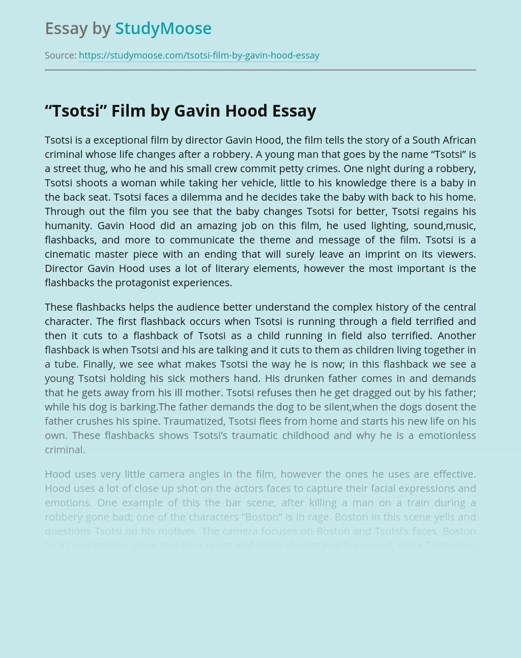 """Tsotsi"" Film by Gavin Hood"