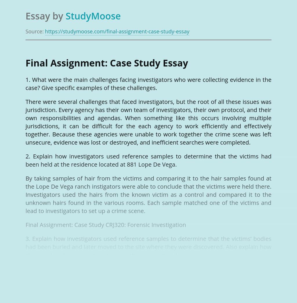 Final Assignment: Case Study
