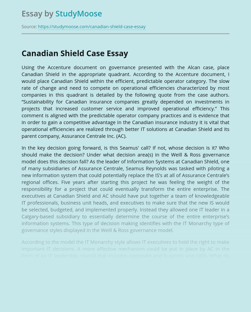Canadian Shield Case