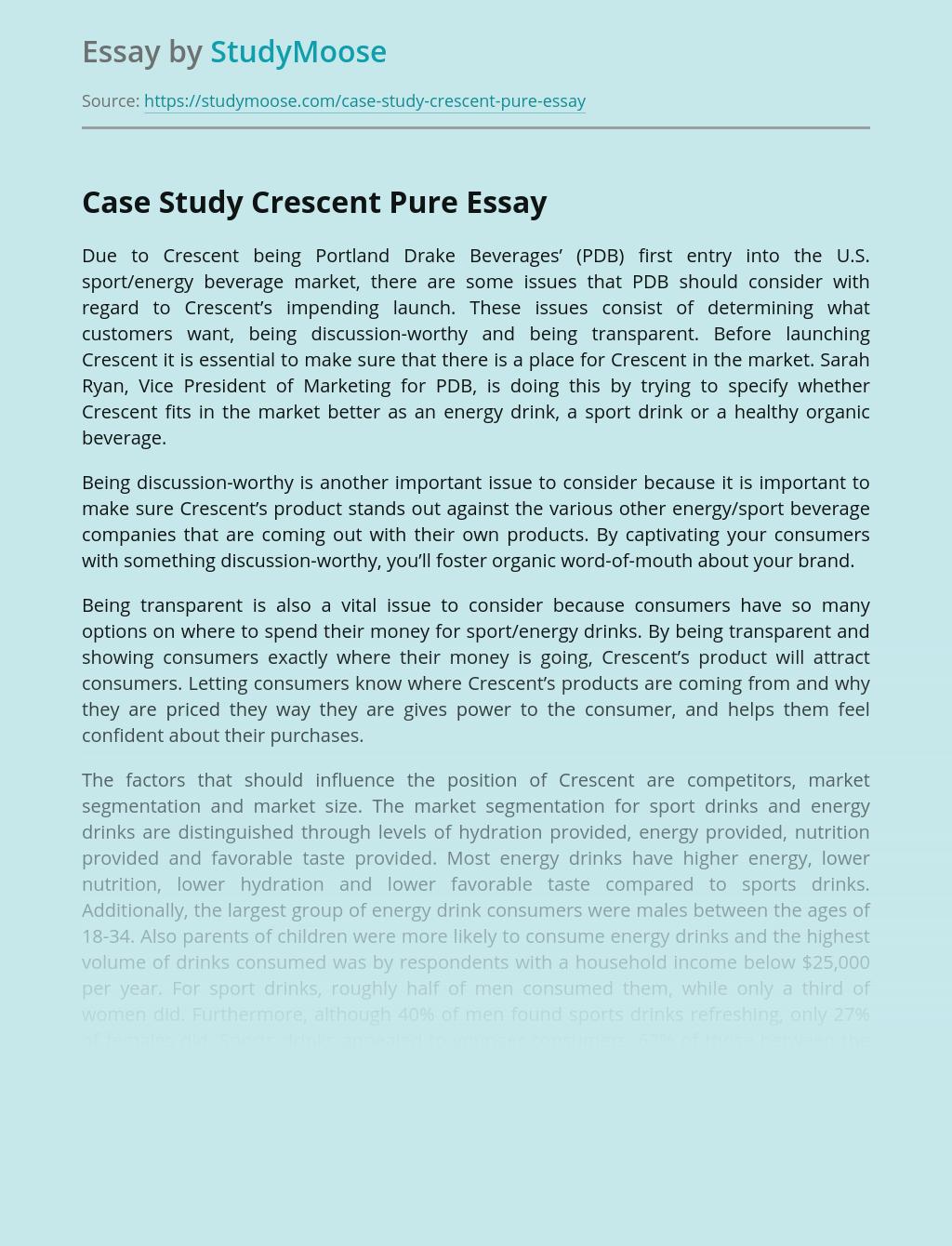 Case Study Crescent Pure