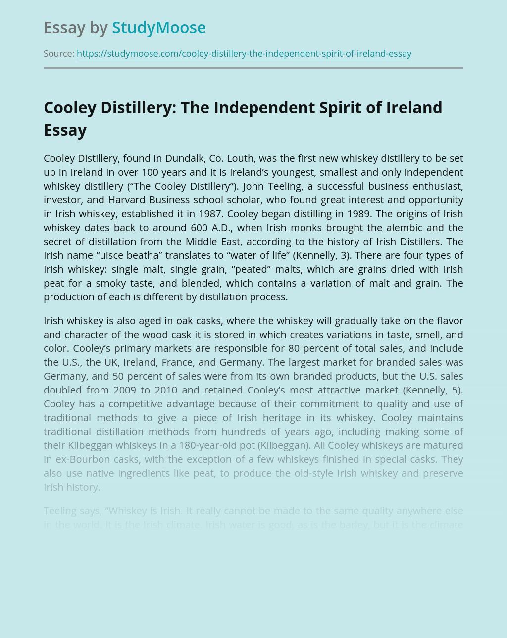 Cooley Distillery: The Independent Spirit of Ireland