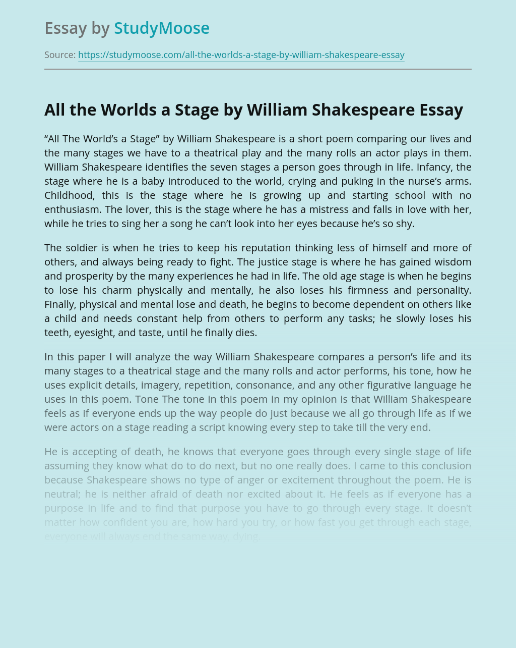 Essay of william shakespeare how to write an engaging narrative
