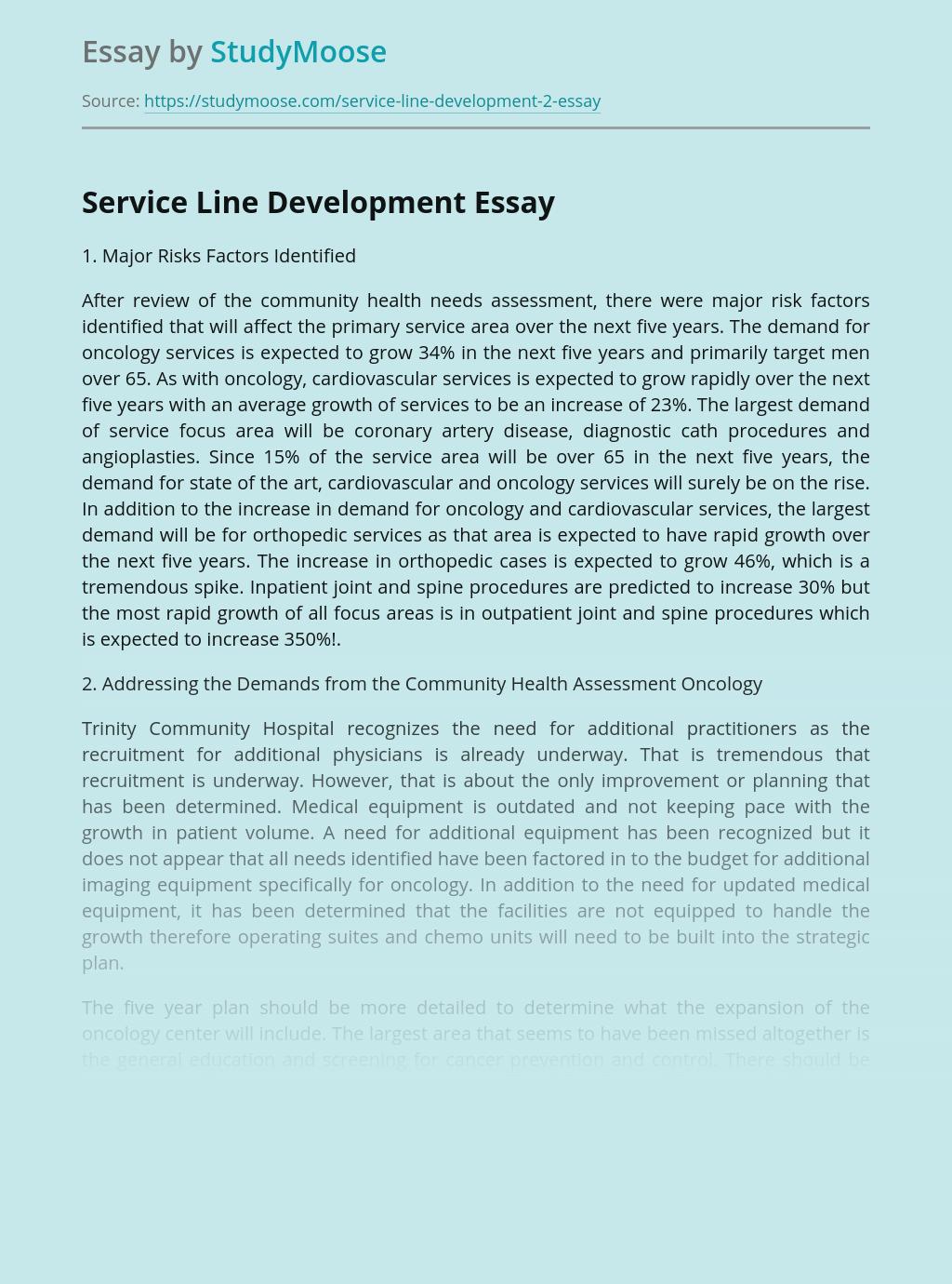 Service Line Development