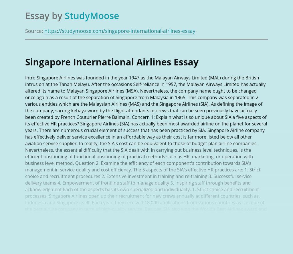 Singapore International Airlines