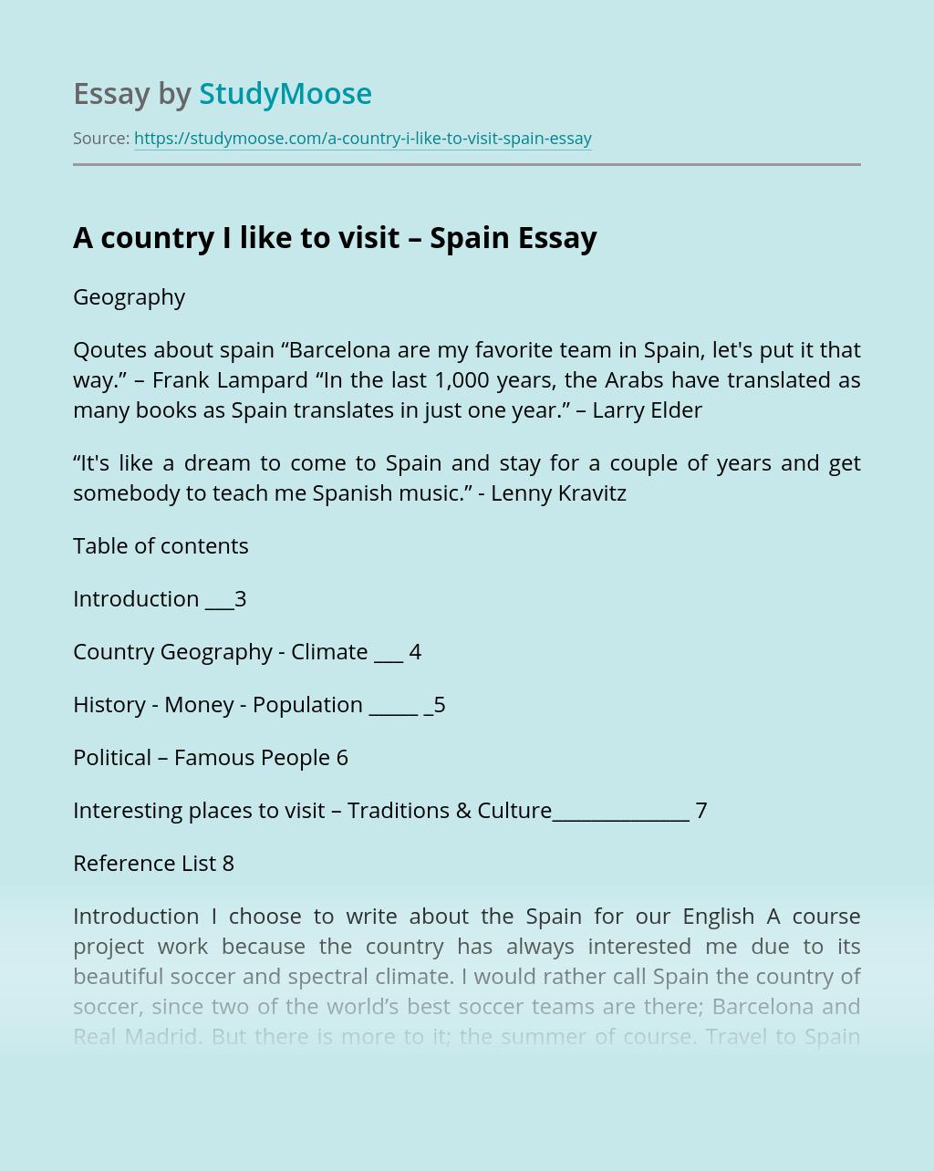 Spanish essay i went on holiday best school admission essay example