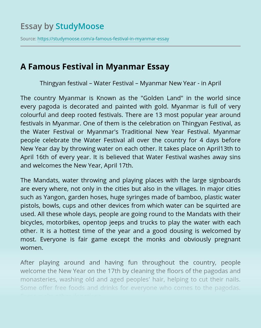 A Famous Festival in Myanmar
