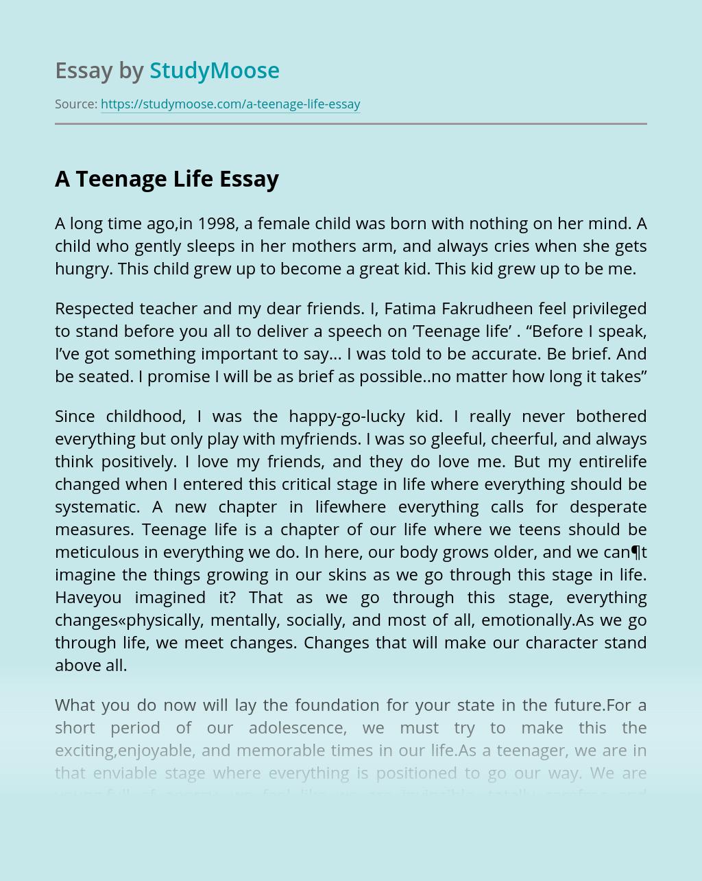 A Teenage Life