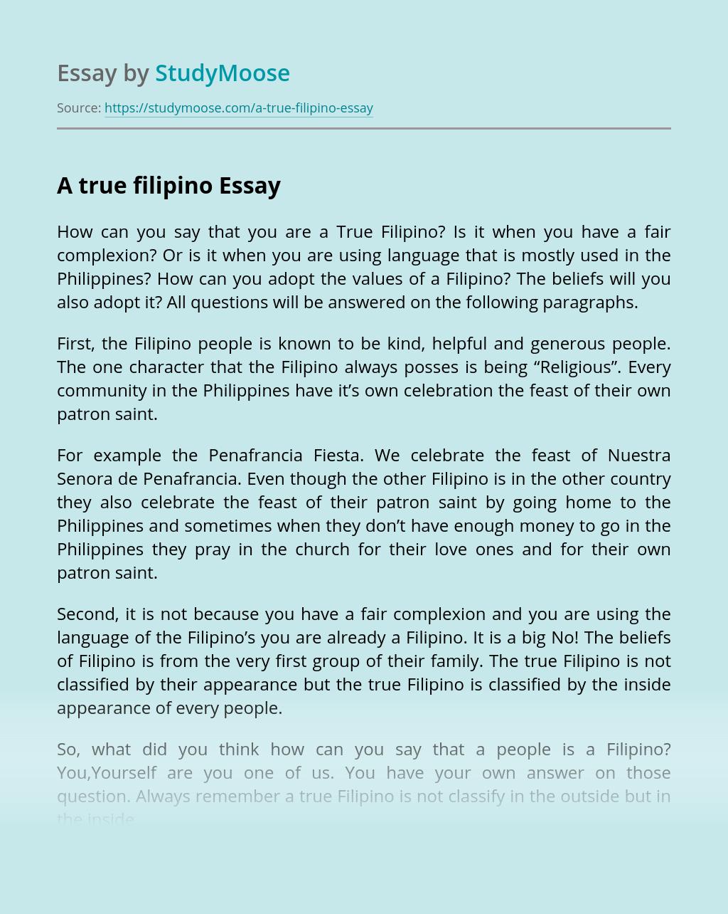 A true filipino