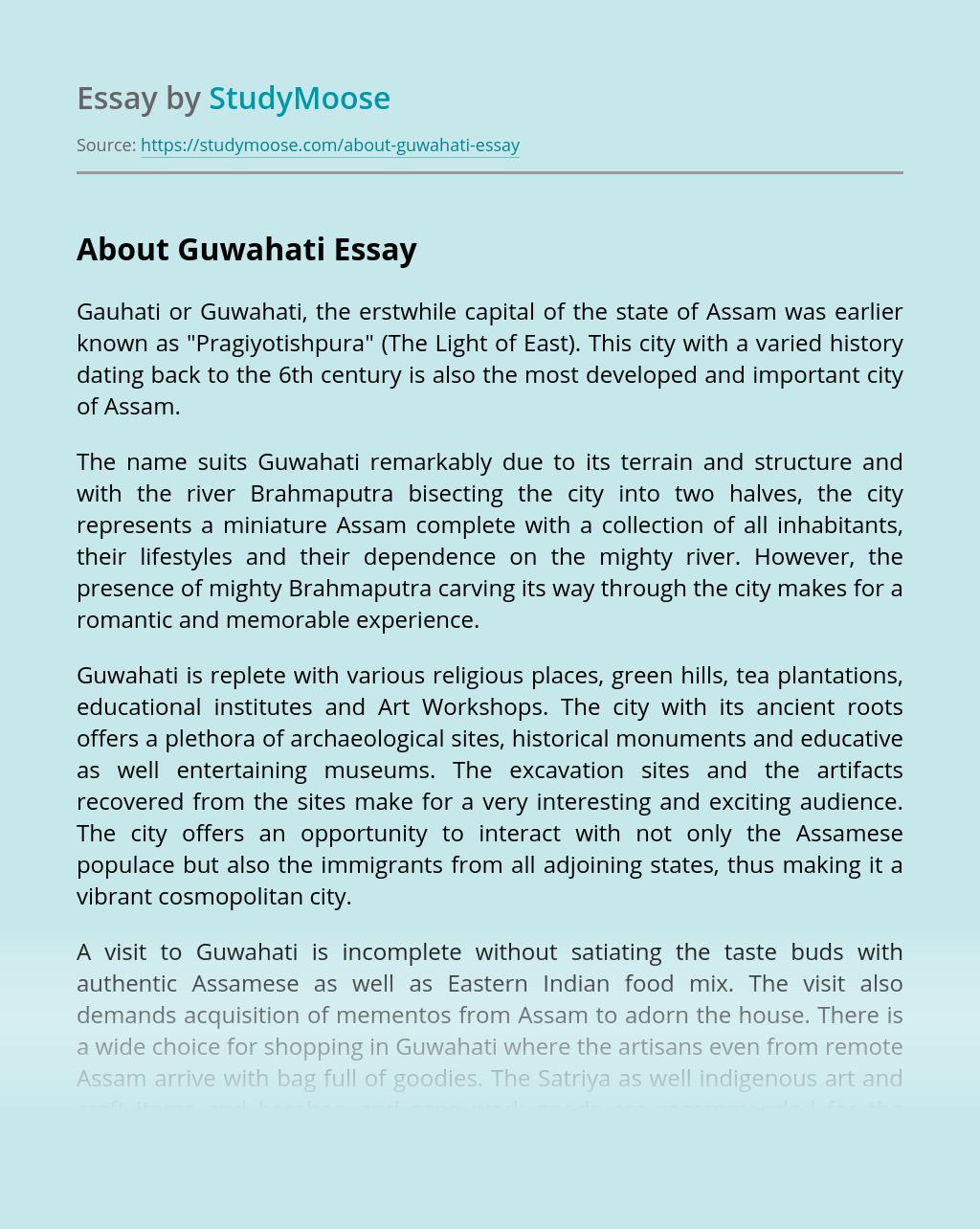 About Guwahati