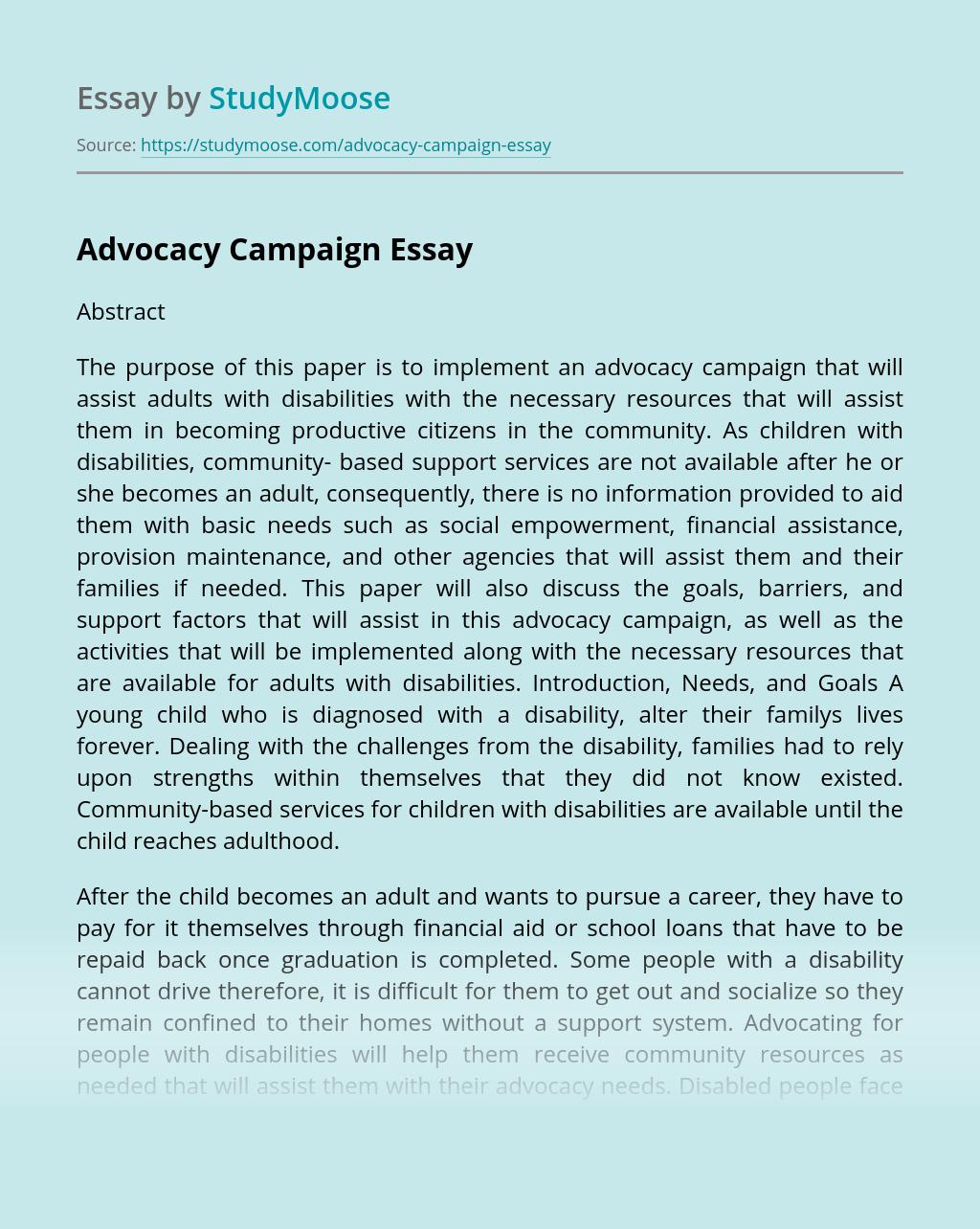 Advocacy Campaign