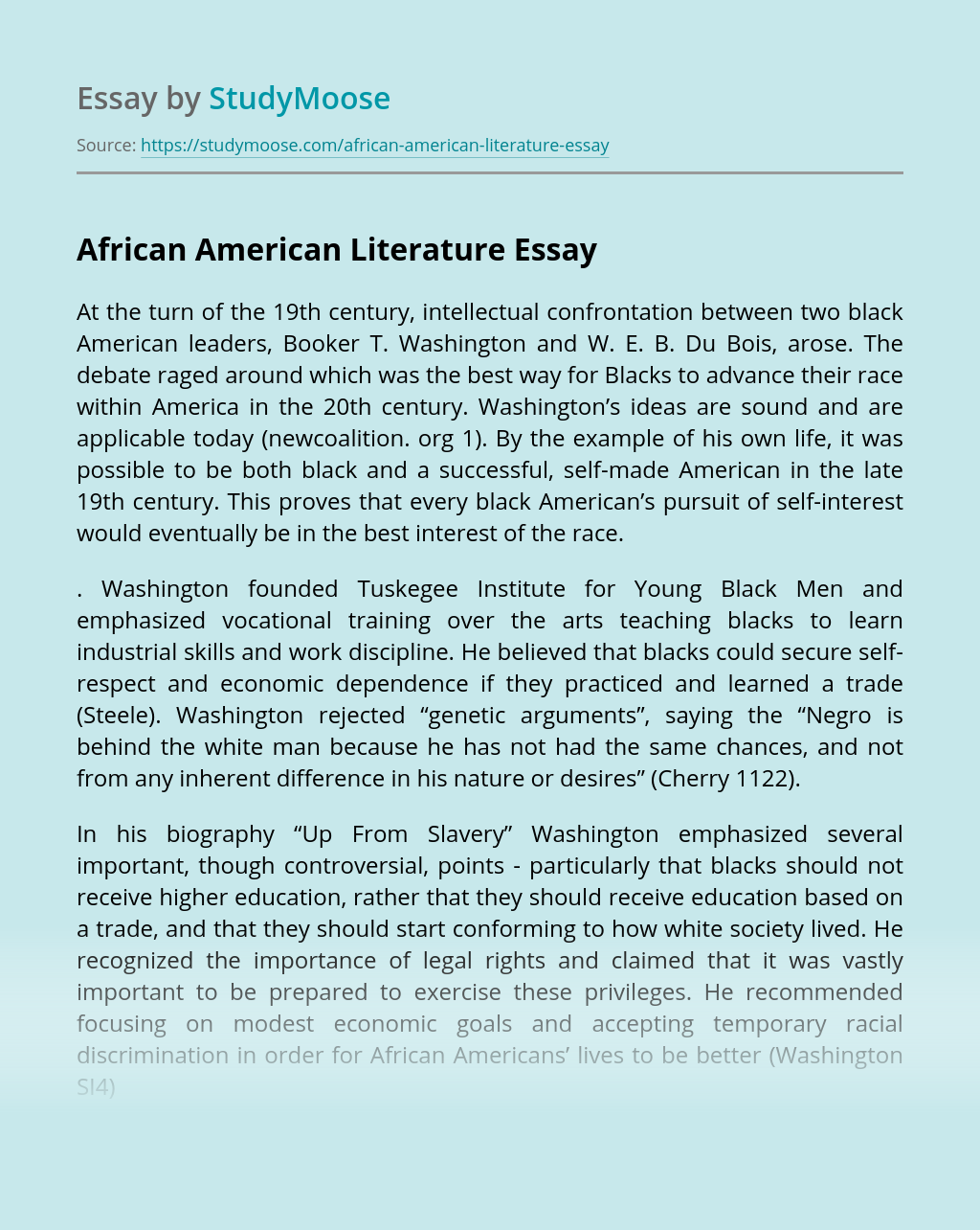 africa Essay example - Words | Bartleby