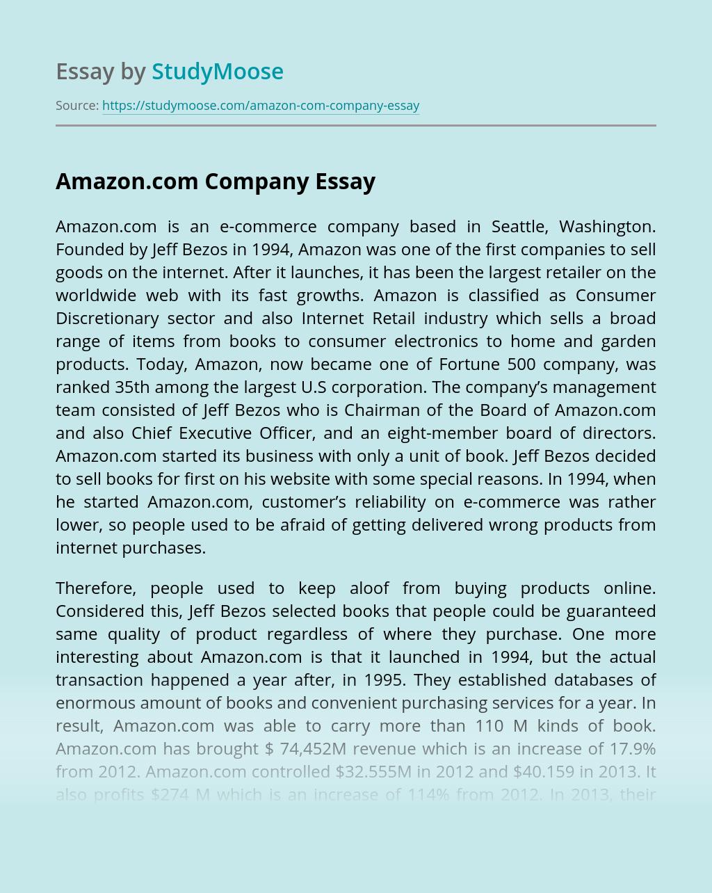 Amazon.com Company