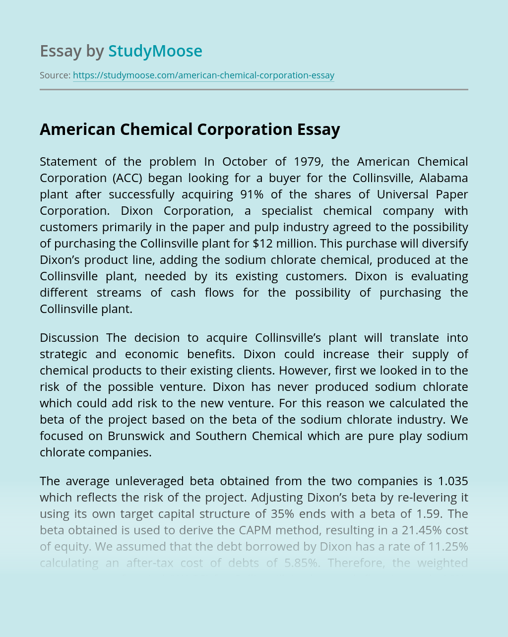 American Chemical Corporation