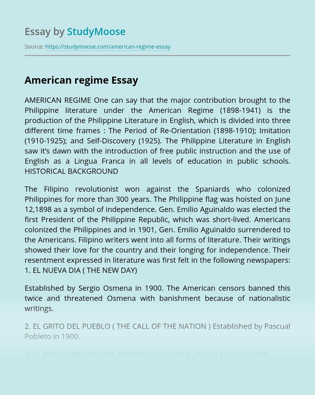American regime