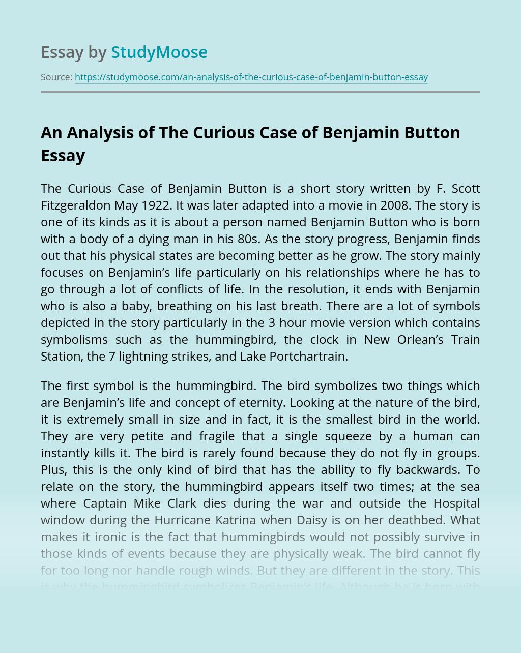 "An Analysis of ""The Curious Case of Benjamin Button"""