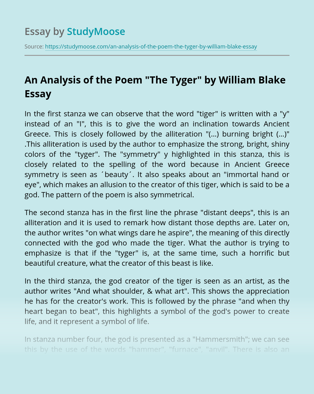 Comparing the lamb and the tyger essay sample resume for warehouse forklift operator