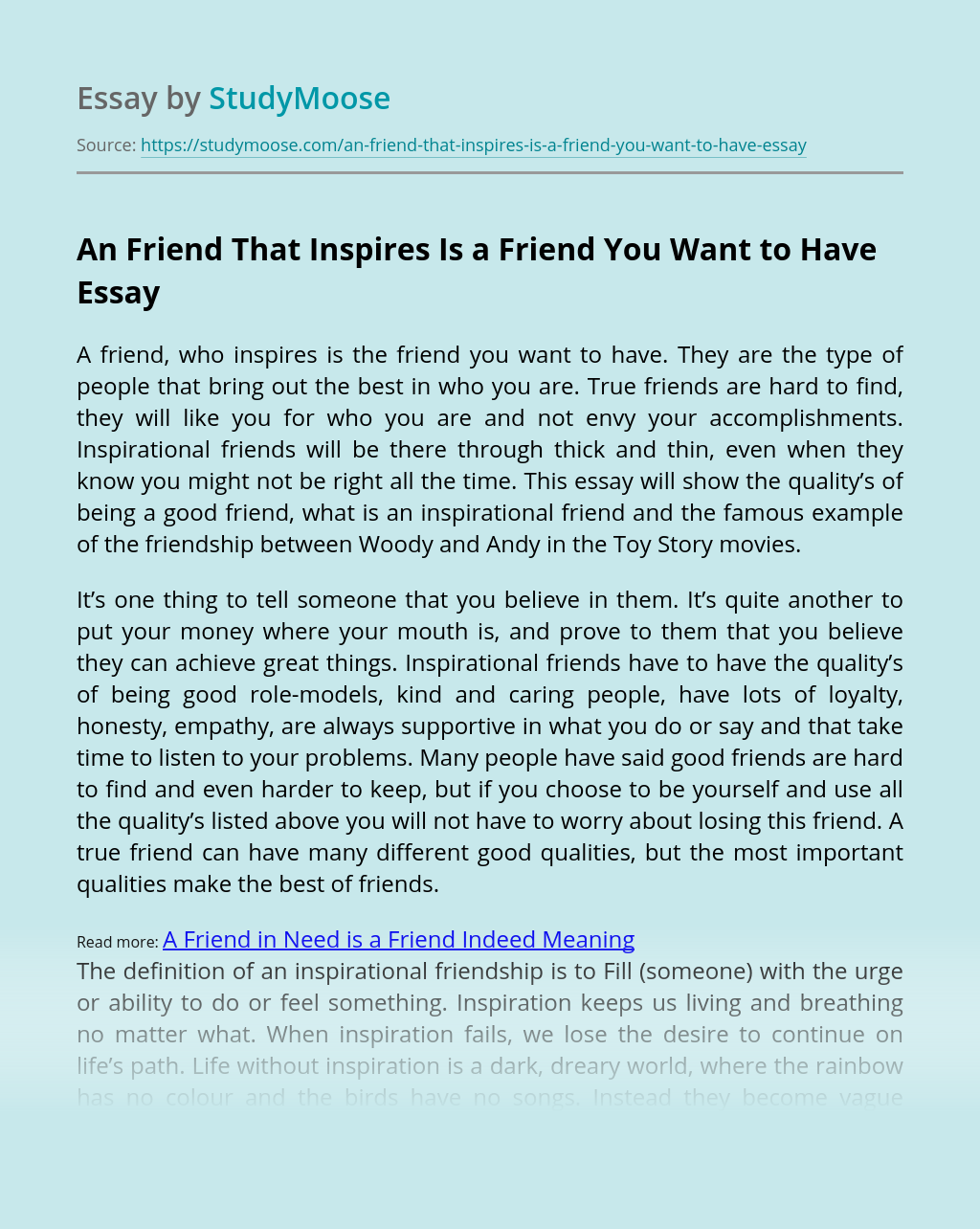 An Friend That Inspires Is a Friend You Want to Have