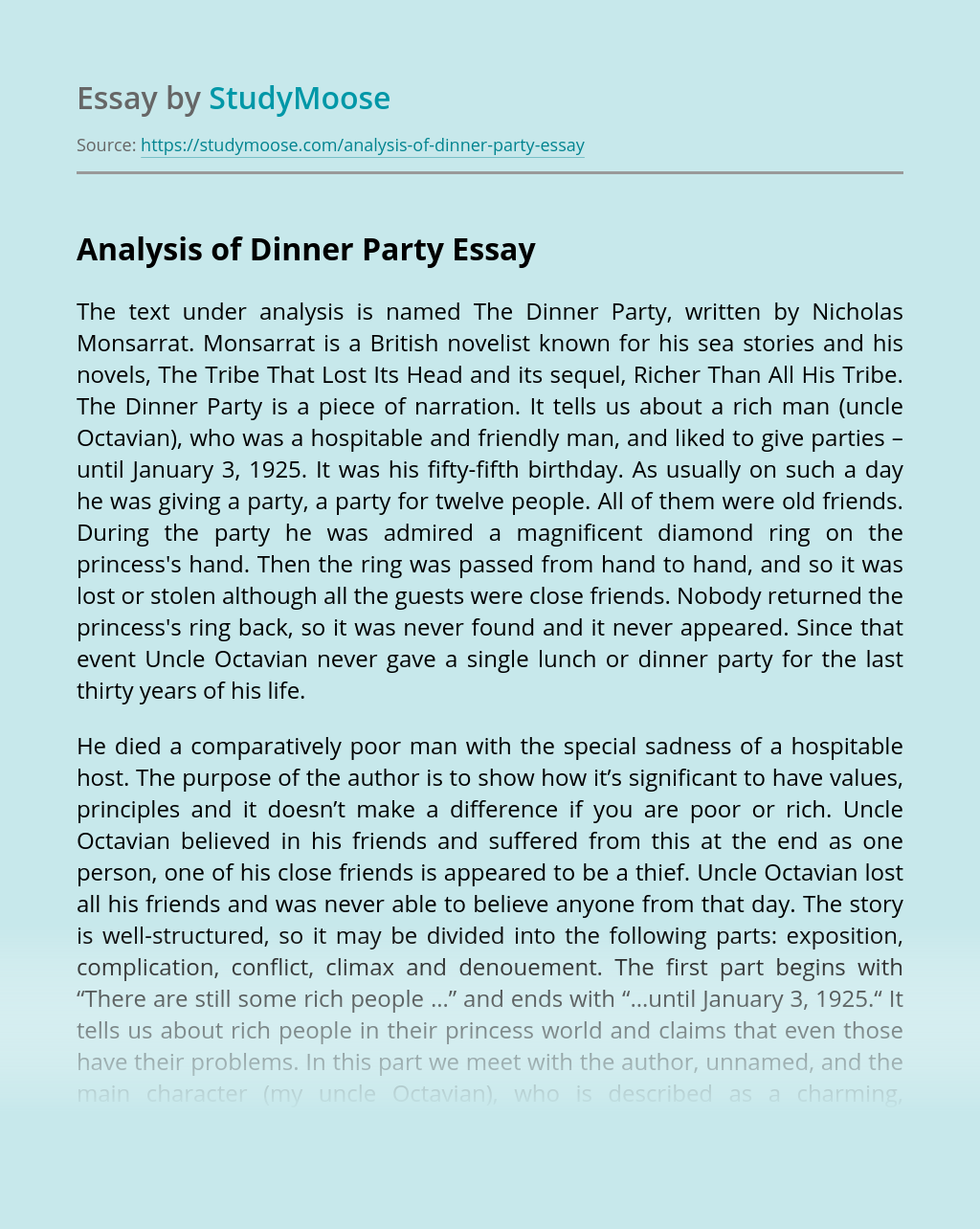 bombeck essays dinner party