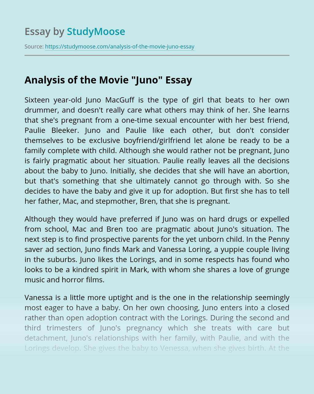 Analysis of the Movie