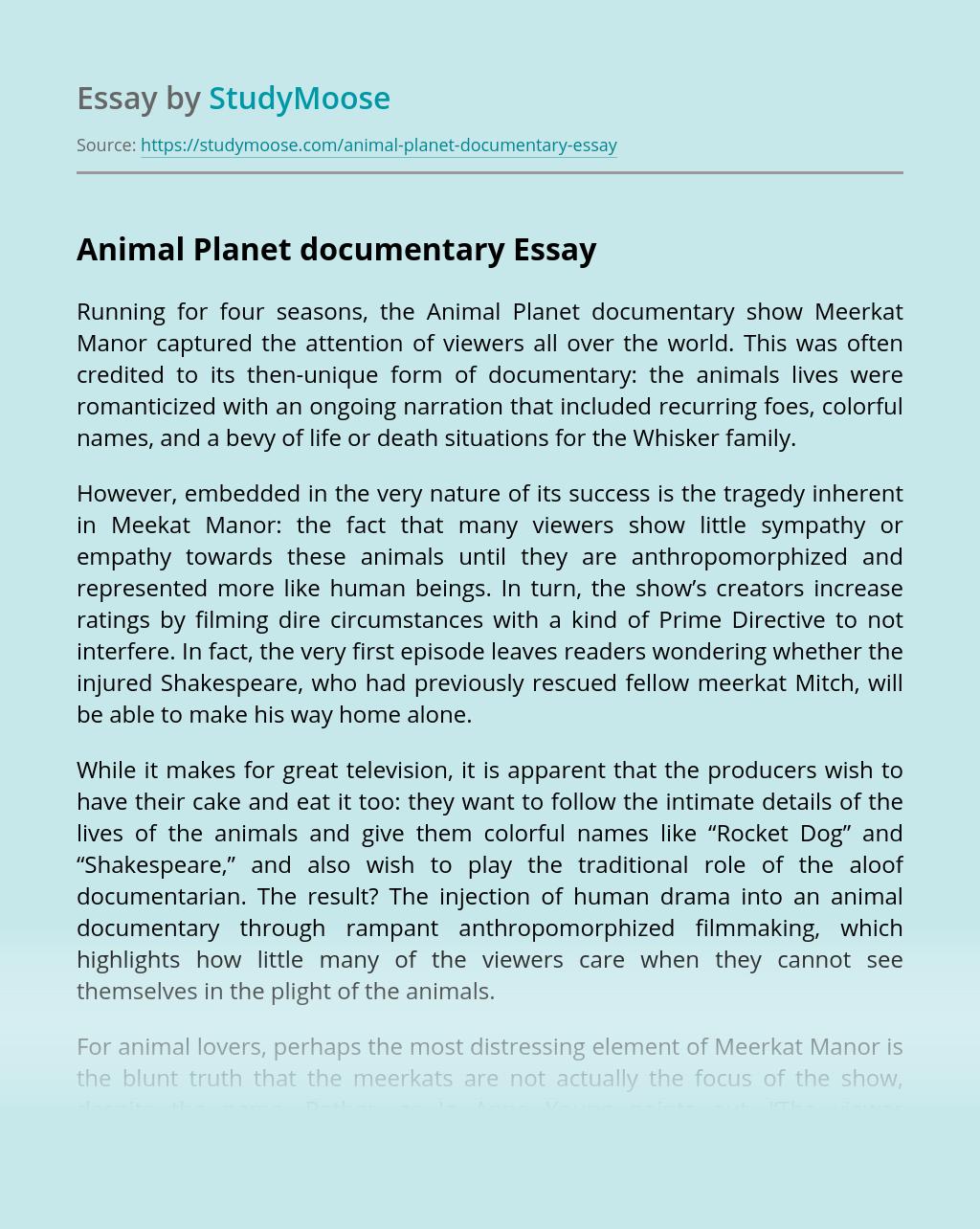 Animal Planet documentary