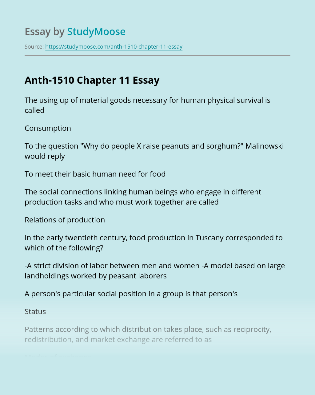 Anth-1510 Chapter 11