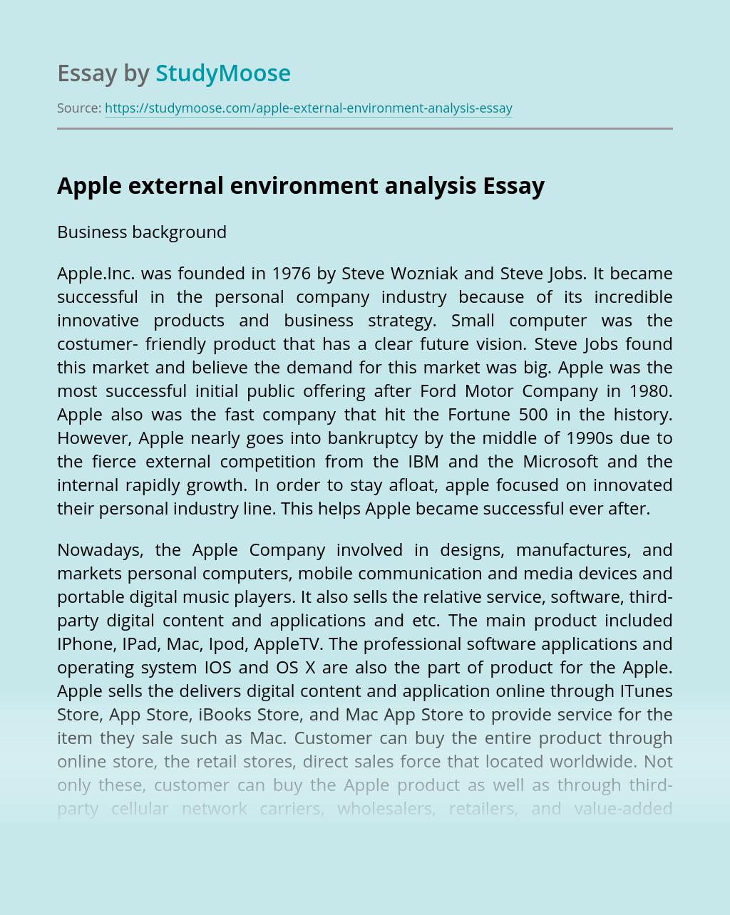 Apple external environment analysis