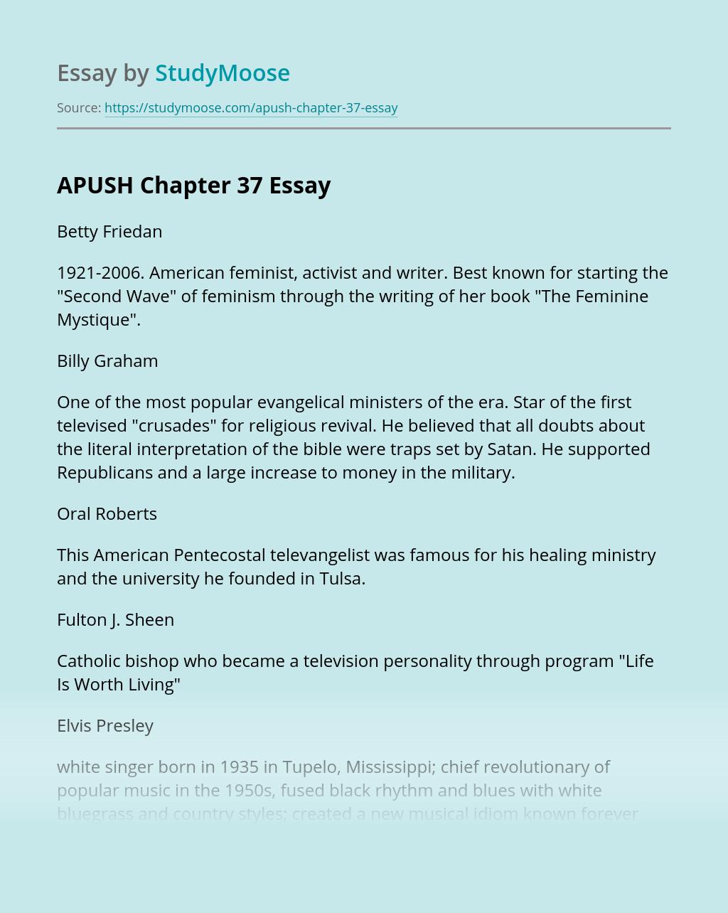 APUSH Chapter 37