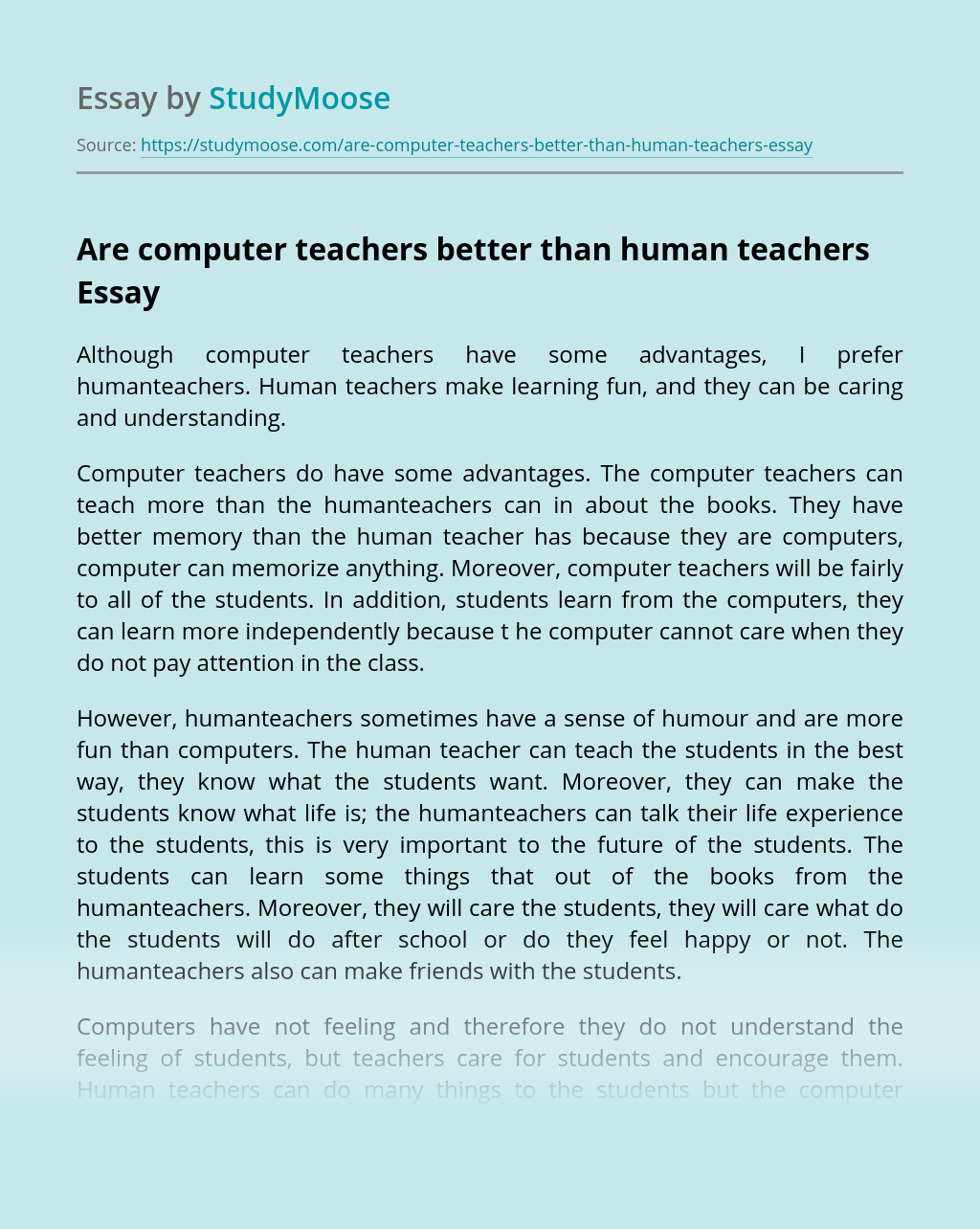 Computers and humans essays definition ghostwriters site online