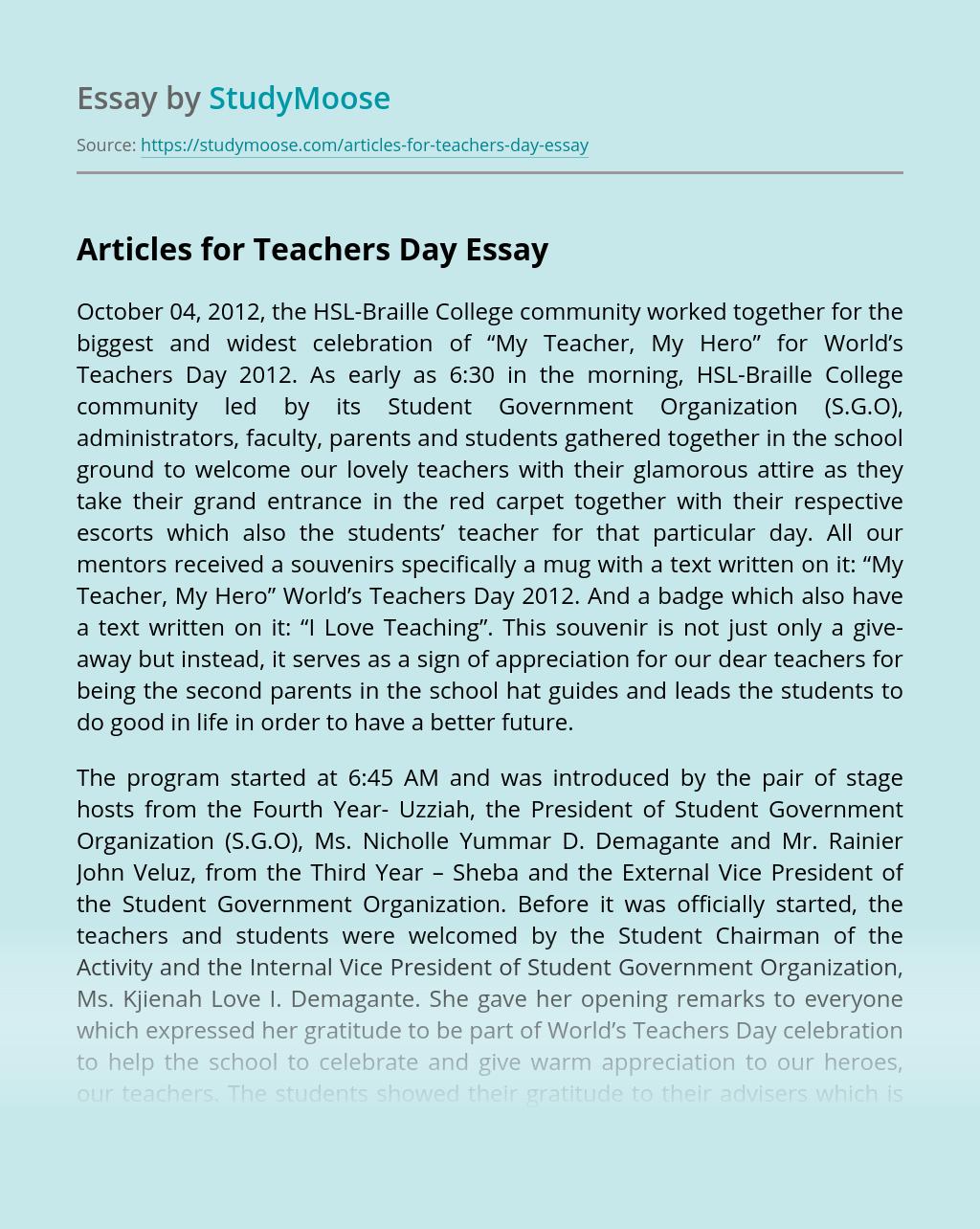 Essay topics for teachers day grahic design business plan sample