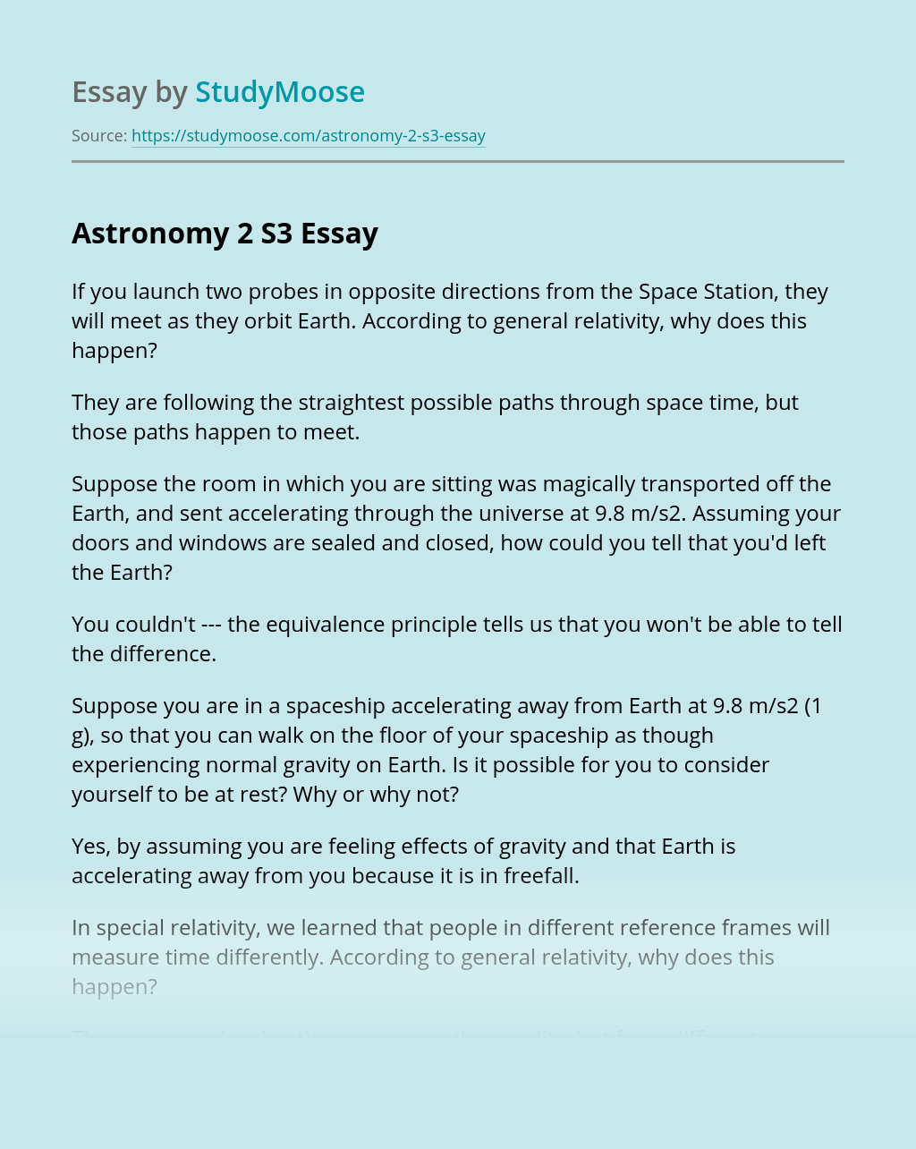 Astronomy Q&A