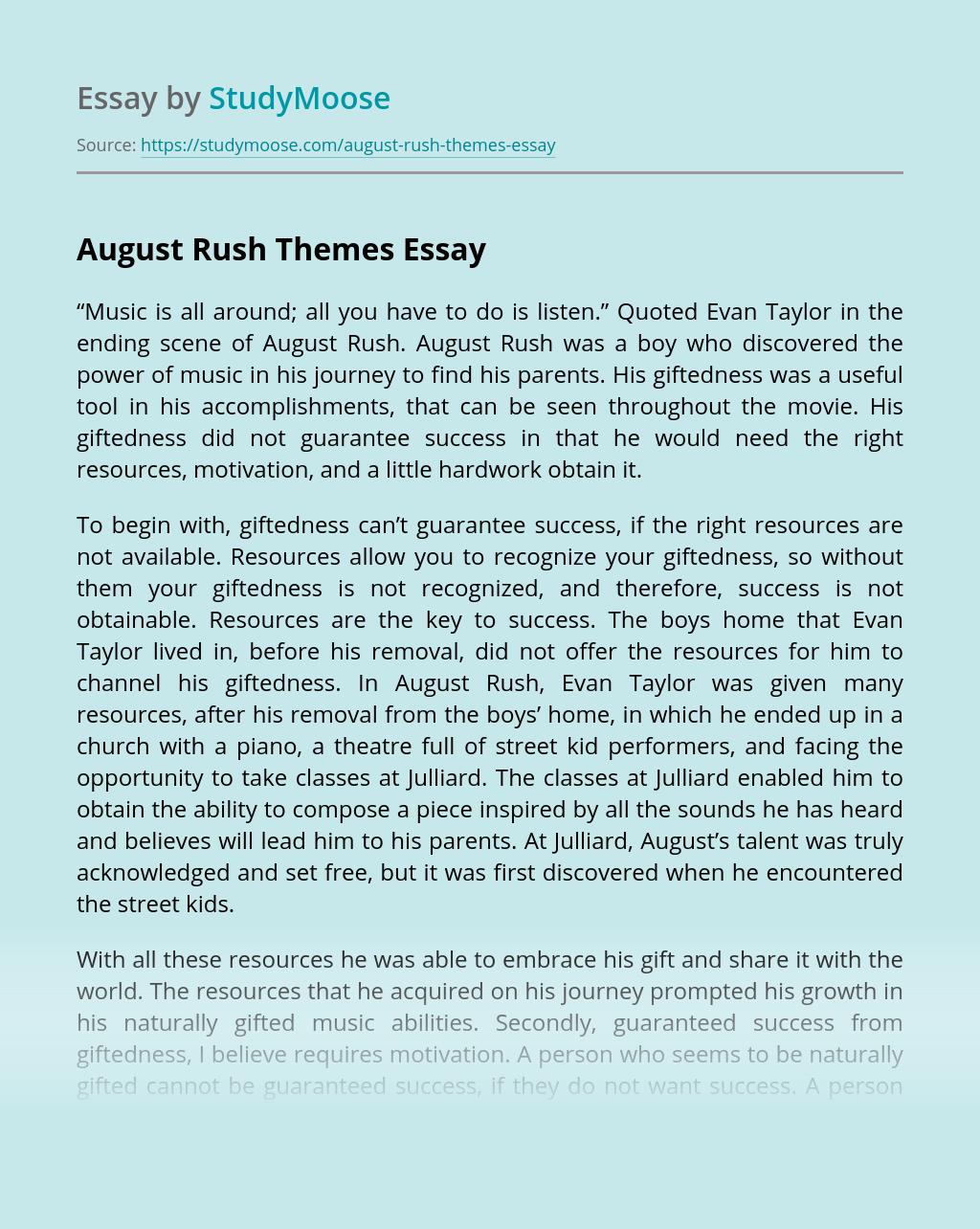 August Rush Themes