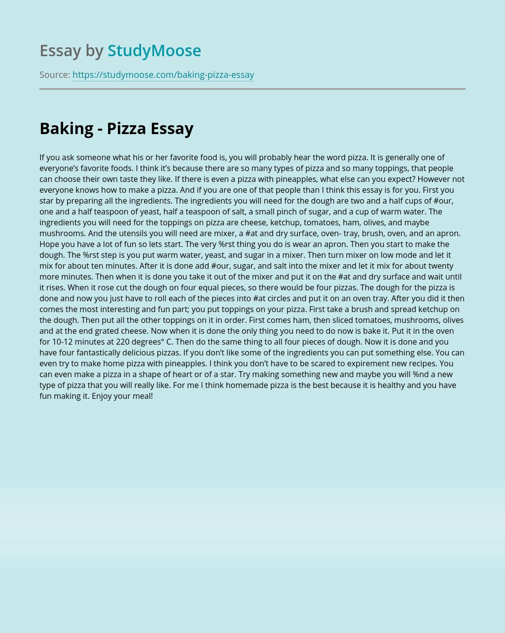 pizza process essay