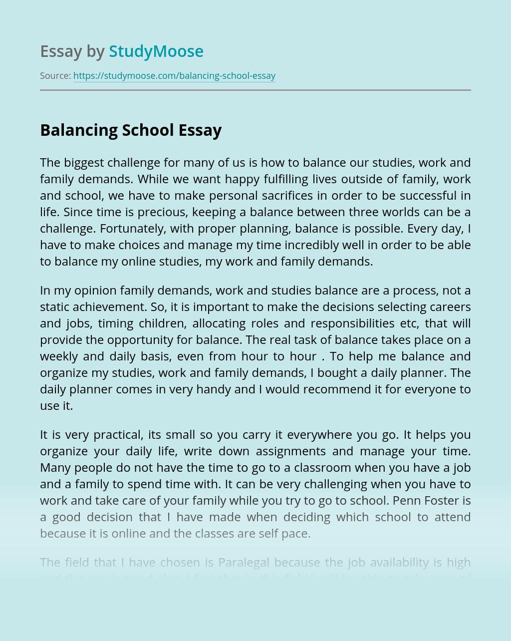 Balancing School