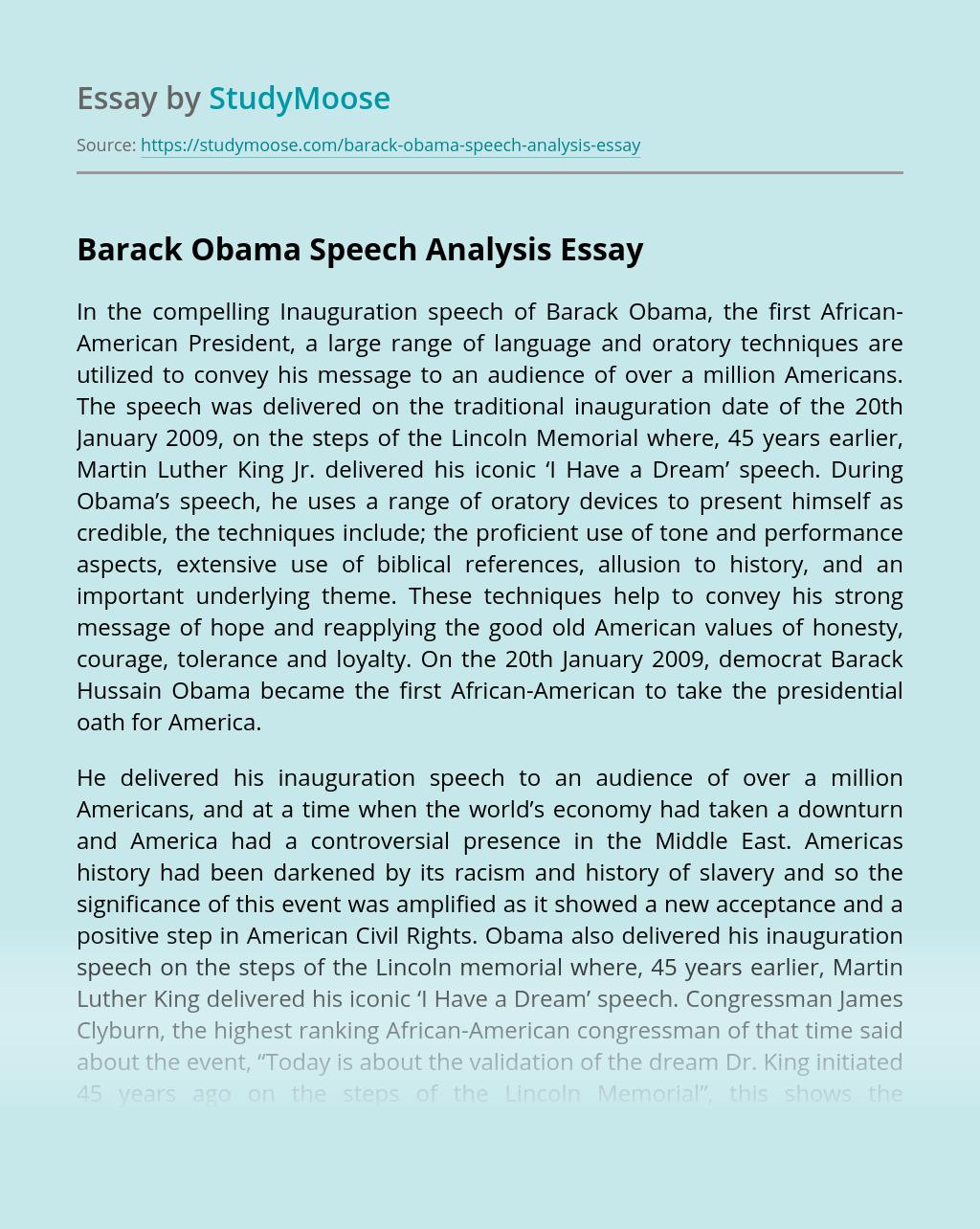 Barack Obama Speech Analysis