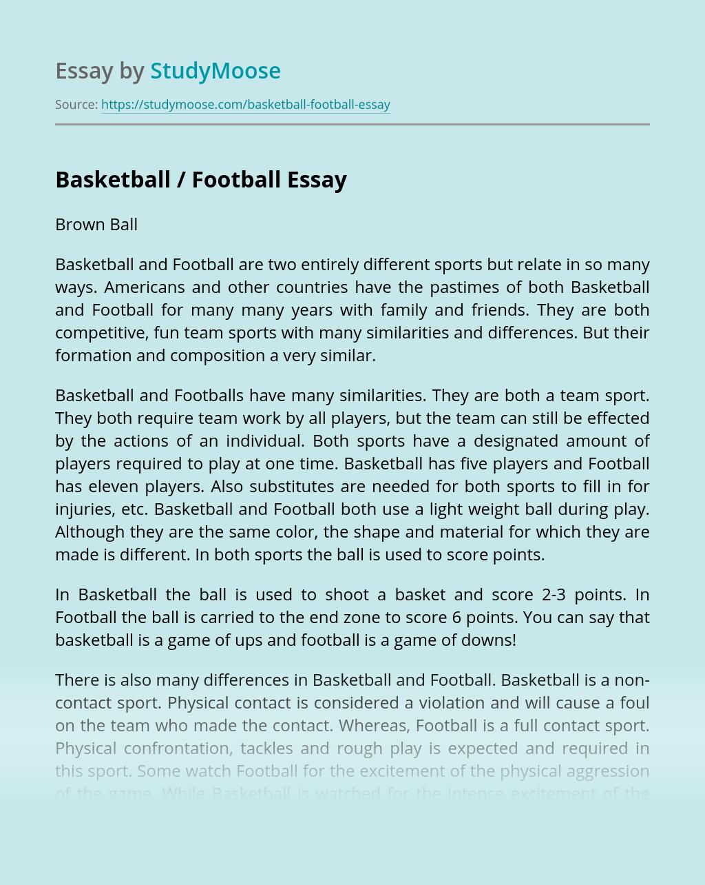 Basketball / Football