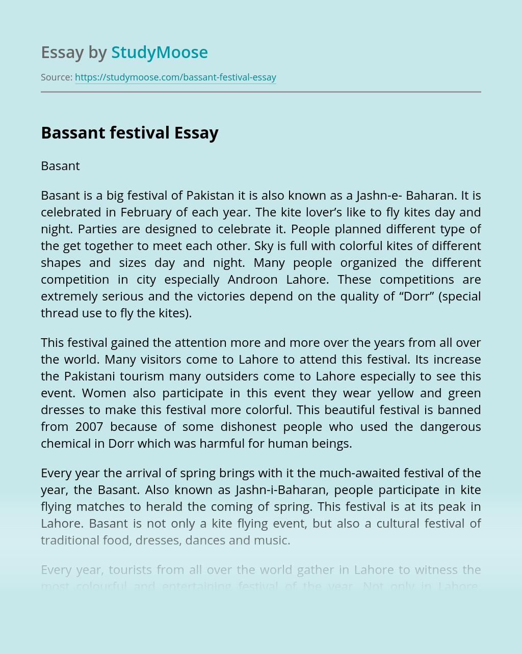 Bassant festival