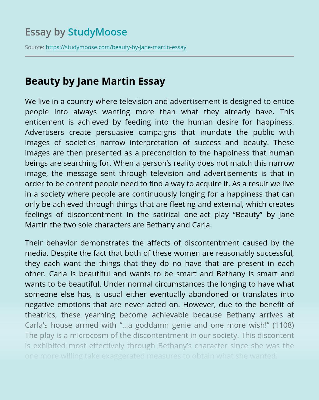Beauty by Jane Martin