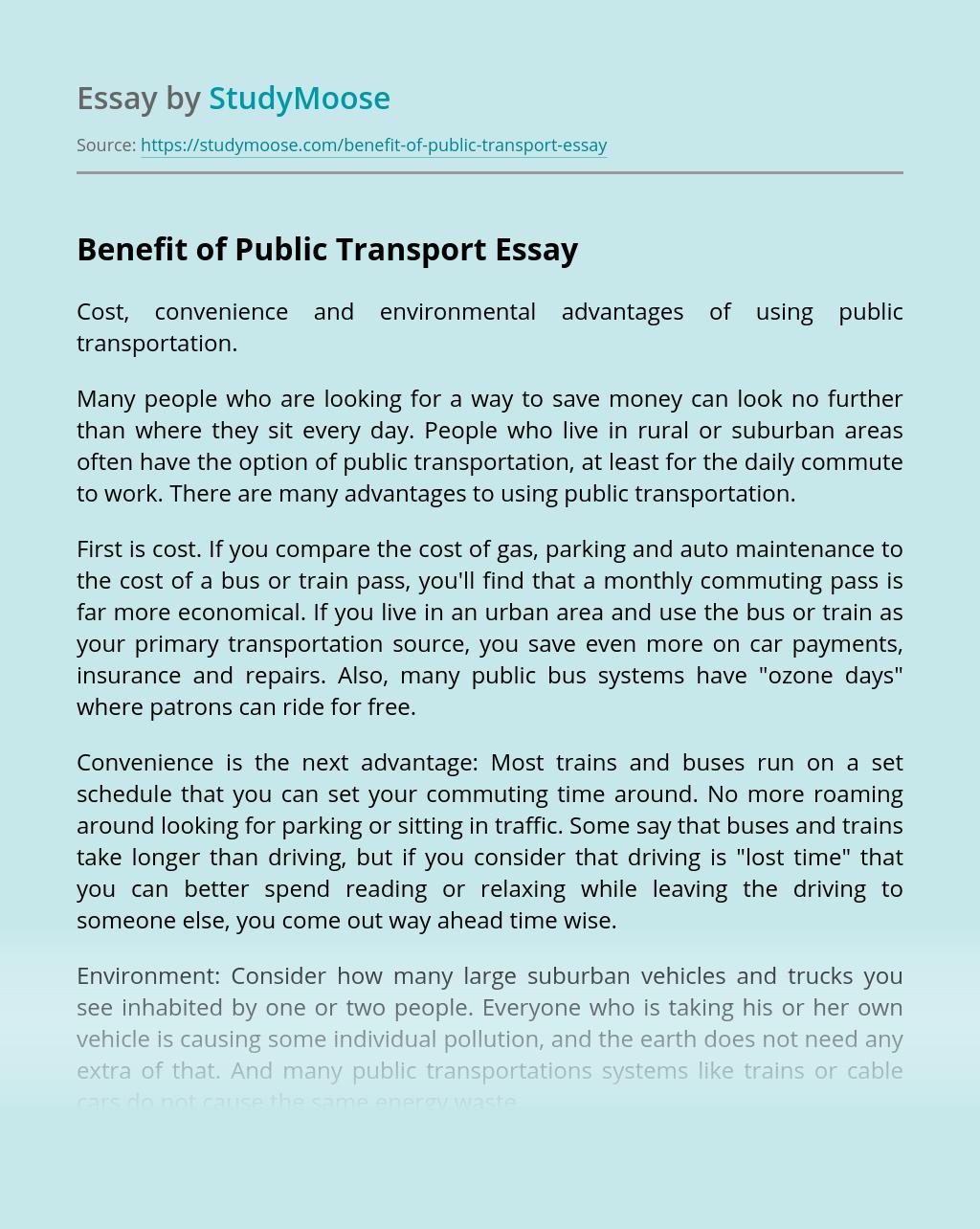 Essays on transportation