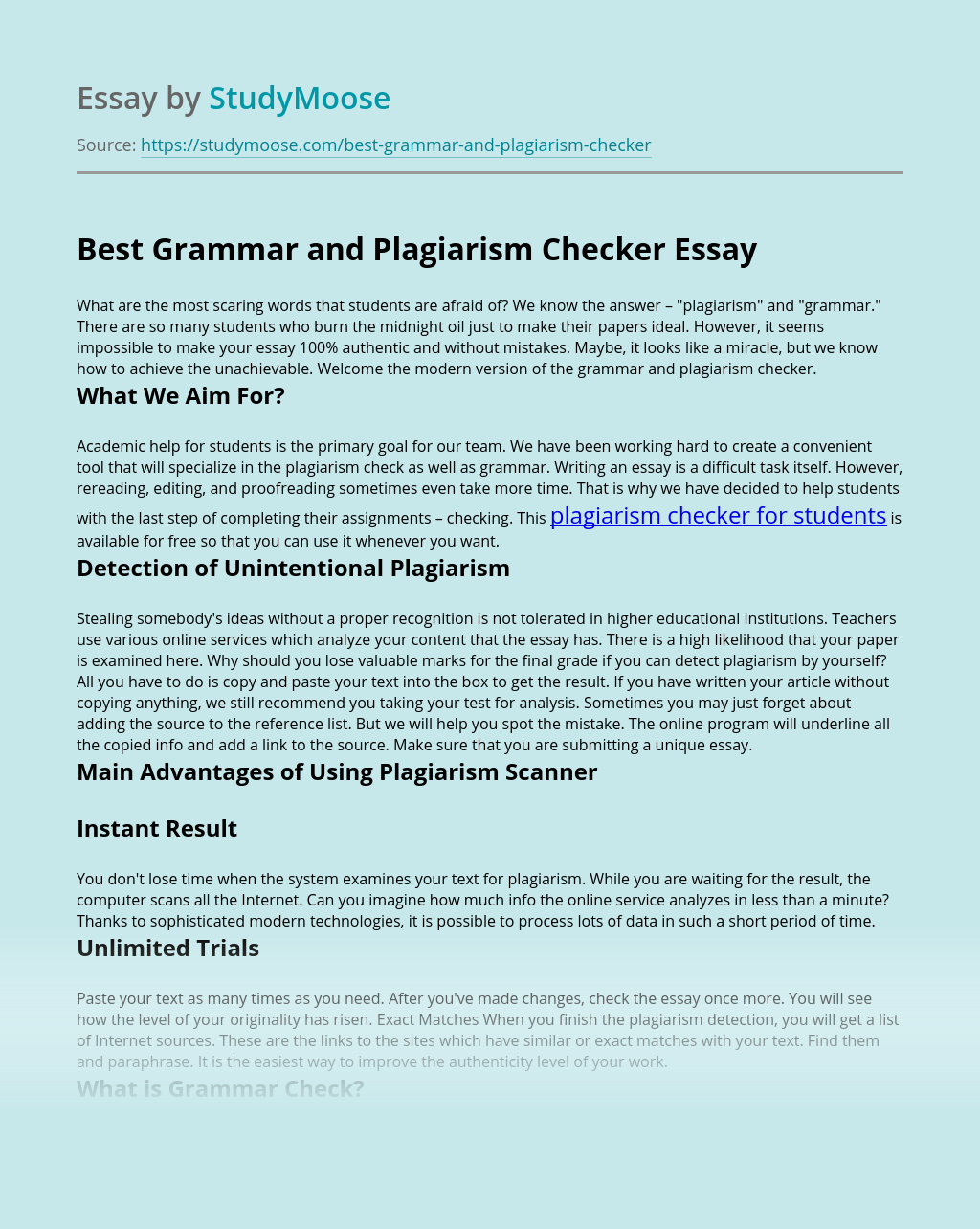 Best Grammar and Plagiarism Checker