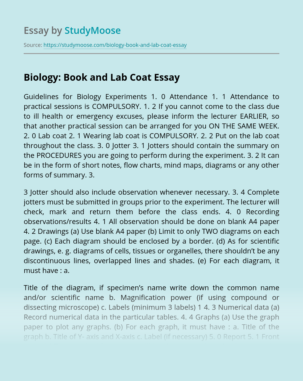 Biology: Book and Lab Coat