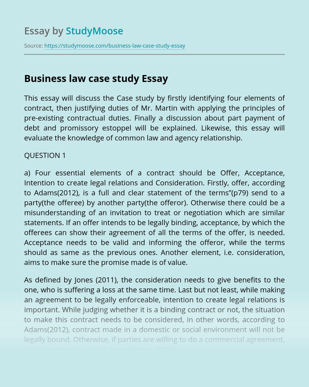 Business law case study