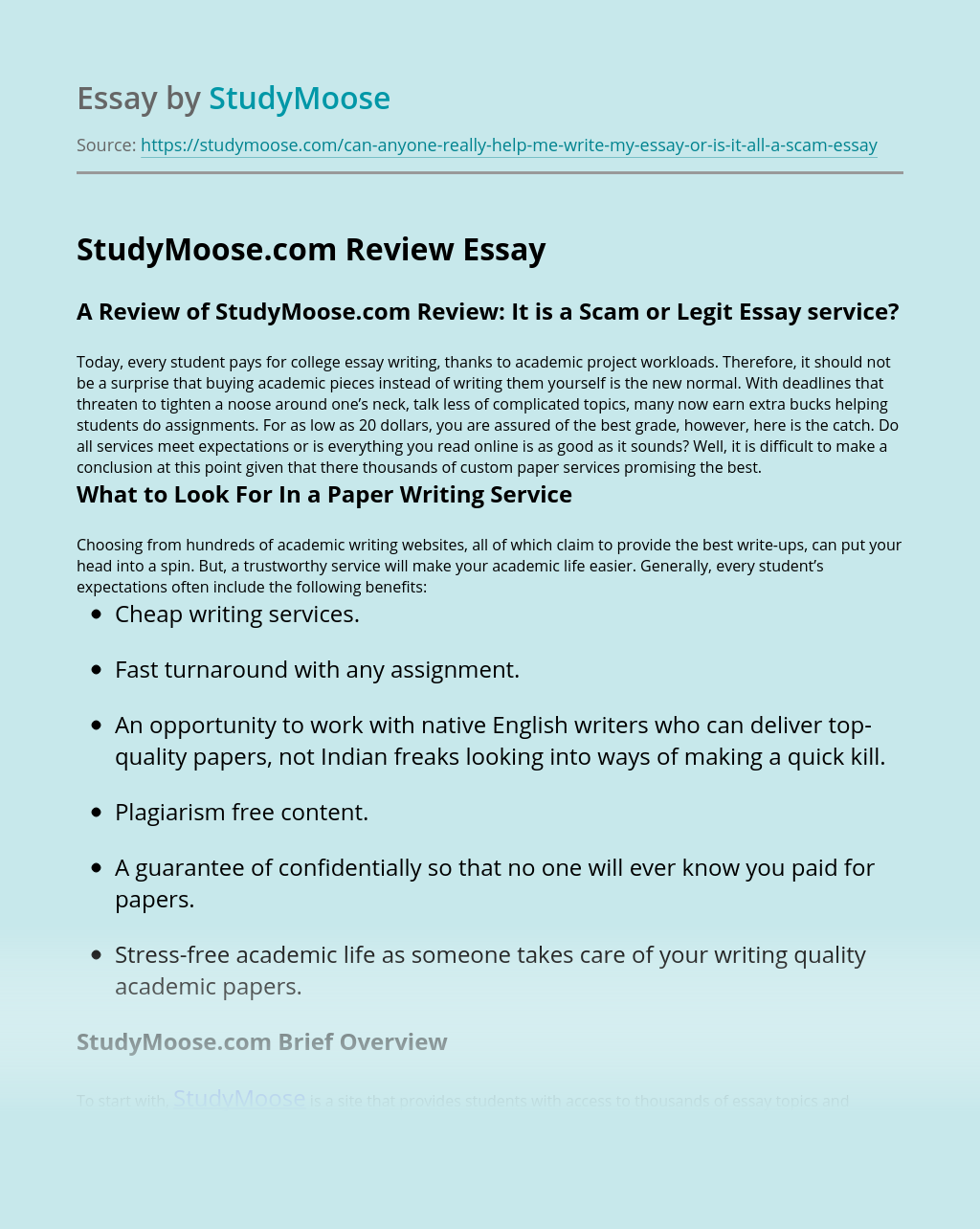 StudyMoose.com Review