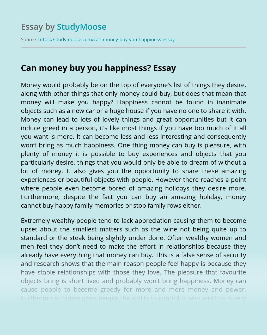 Order essay for money