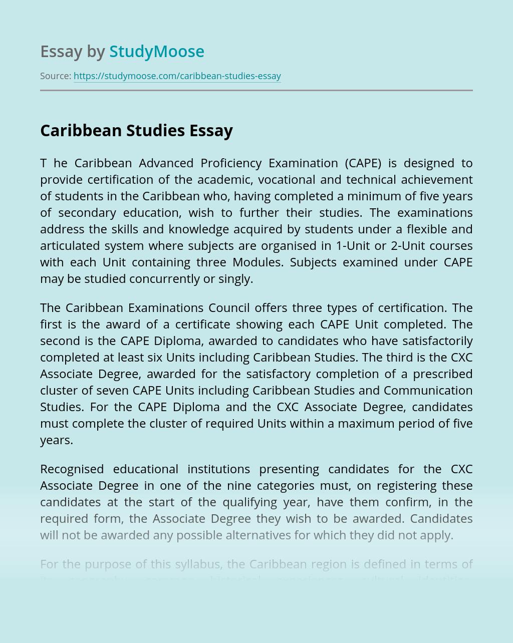 Caribbean Studies