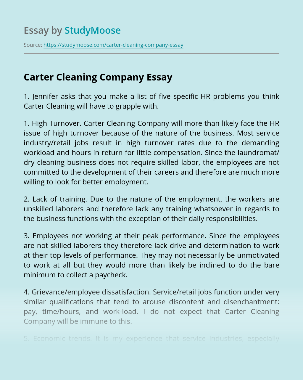 Carter Cleaning Company