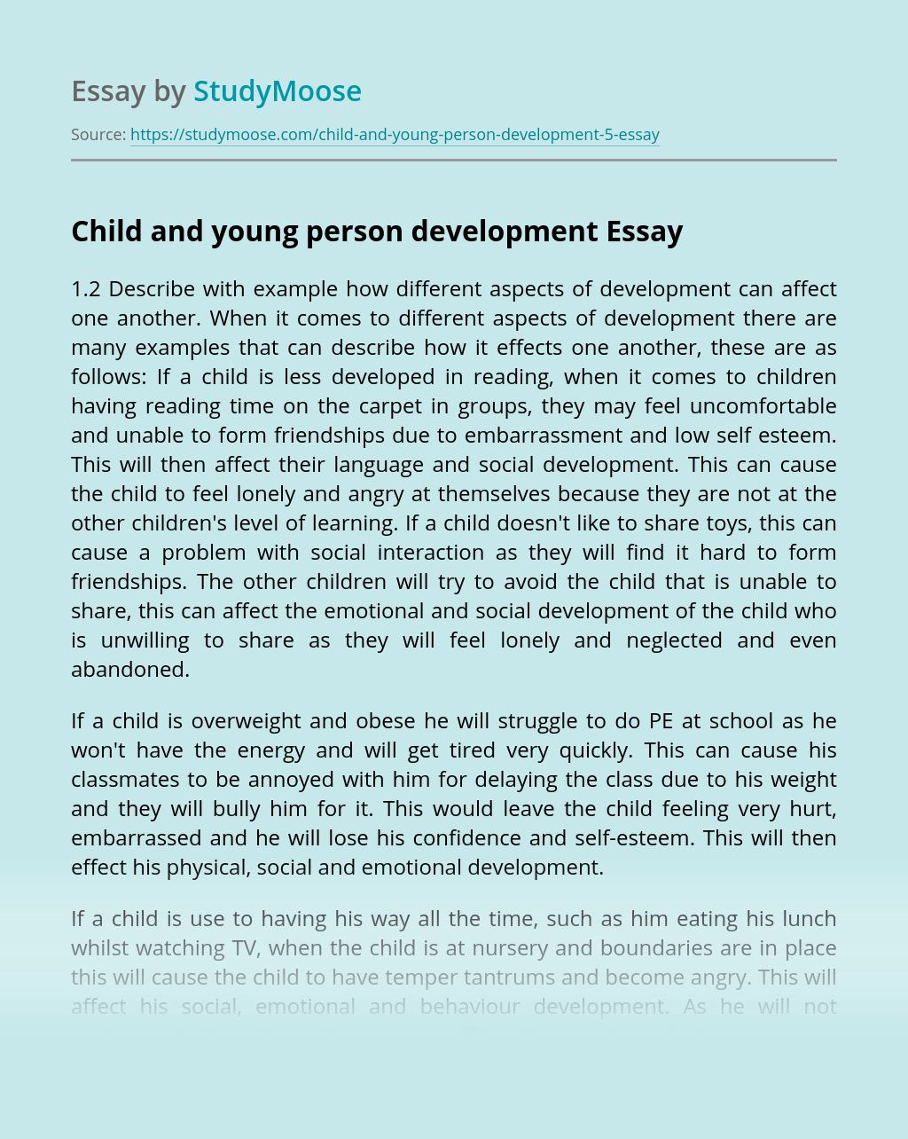 Young People's Development