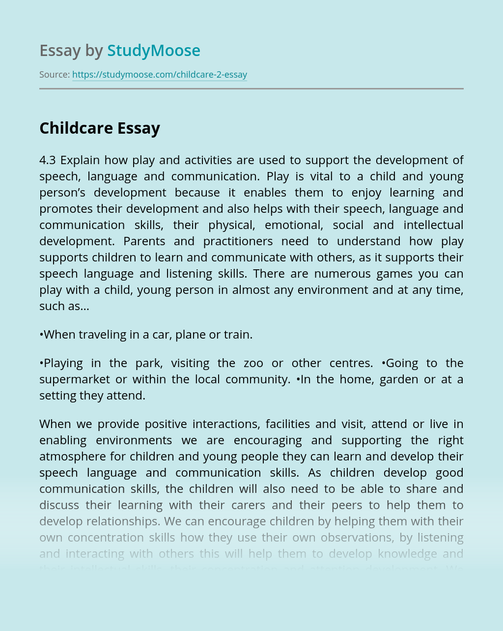 Why are Play and Activities important for Children?