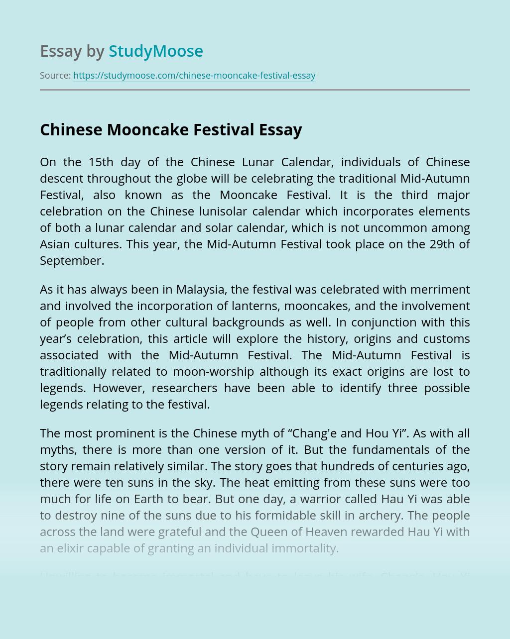 Chinese Mooncake Festival