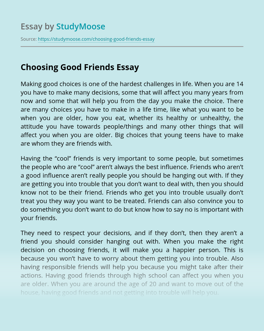 How to be a good friend expository essay how to write a good summery
