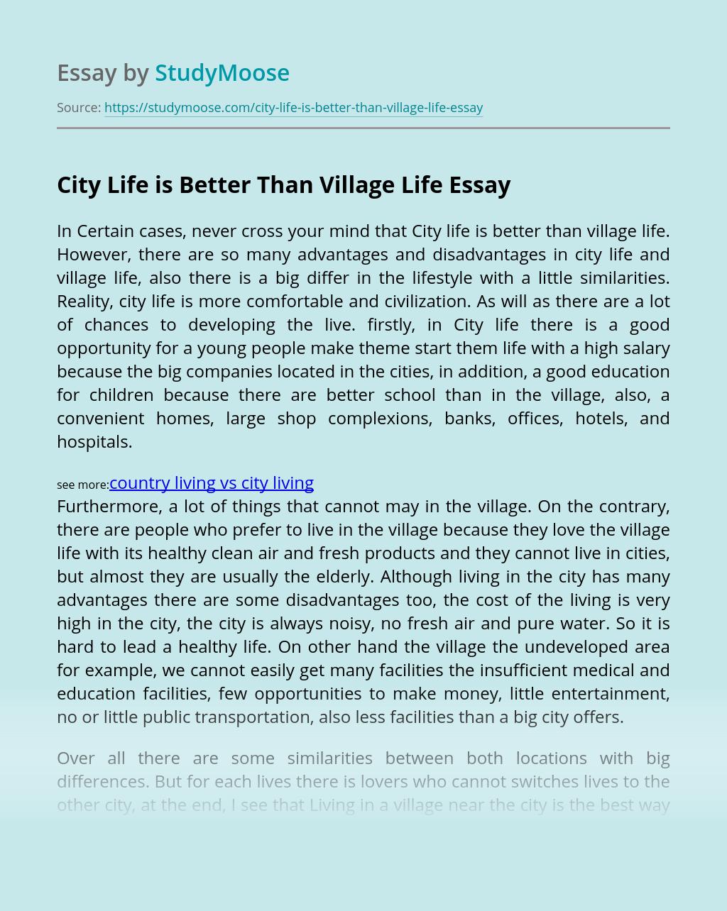 Country living vs city living
